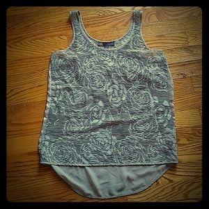 Sheer lace tank top